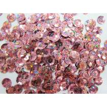 24gm Sequin Pack- Holographic Dusty Pink- 10mm #017