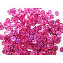 24gm Sequin Pack- Holographic Pink- 8mm #022