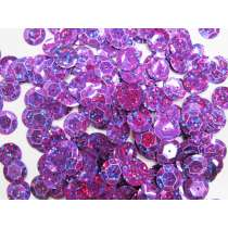24gm Sequin Pack- Holographic Purple- 12mm #024