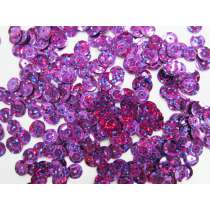 24gm Sequin Pack- Holographic Purple- 6mm #026