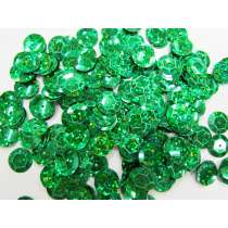 24gm Sequin Pack- Holographic Emerald- 12mm #035