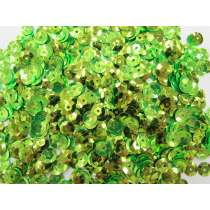 24gm Sequin Pack- Lime Green- 8mm #038
