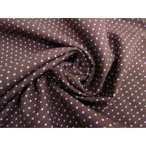 Brocade Spot Cotton Shirting- Chocolate #2137