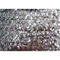Stretch Sequin Trim- 2 Row- Silver