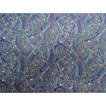 Paisley Labyrinth Cotton- Blue