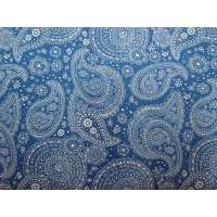 Floral Paisley Cotton- Blue