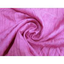 Crinkle Look Viscose Shirting- Bright Rose #2173
