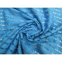 Lattice Look Cotton Blend Lace- Vivid Blue #2176