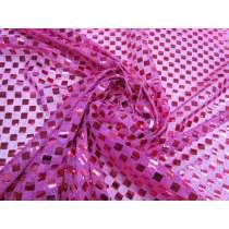 8mm Alternate Square Sequin- Cerise Pink