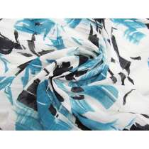 Flower Cuttings Light Yoryu Chiffon- Blue #2209