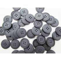 Matte Black Fashion Button- FB108- 25mm