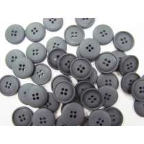 Matte Black Fashion Button- FB109- 20mm