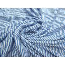 Crinkle Look Soft Stripe Knit- Blue/White #2219