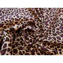 Purple Leopard Cotton Pinwale Corduroy #2274