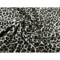 Snow Leopard Cotton Pinwale Corduroy #2275