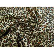 Golden Leopard Cotton Pinwale Corduroy #2276