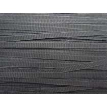 7mm Rayon Petersham Ribbon- Slate #054