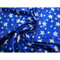 Holographic Stars Fog Finish Spandex- Royal
