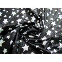 Holographic Stars Fog Finish Spandex- Black