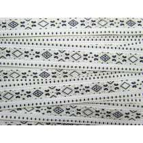 Folk Fairytale Brocade Ribbon Trim- Black/White #068