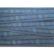 Folk Fairytale Brocade Ribbon Trim- Royal Blue #072