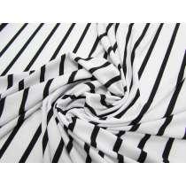 Thin Stripe ITY Jersey- Black / White #2389