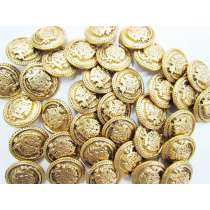 24mm Coat of Arms Gold Fashion Button FB132