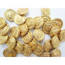 22mm Coat of Arms- Gold Fashion Button FB133