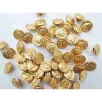 15mm Coat of Arms Gold Fashion Buttons FB134