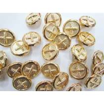 23mm Gold Fashion Buttons FB135