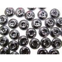 25mm Shiny Black Fashion Button FB138