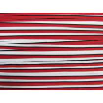10mm Stripe Grosgrain Ribbon- Red/Black