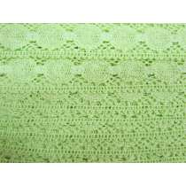 40mm Tropical Lime Cotton Lace Trim #194