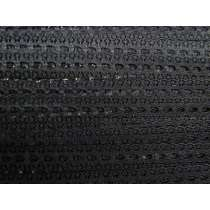 17mm Delicate Eyelet Lace Trim- Black #196