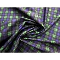 Purple Plaid Italian Spandex #2472