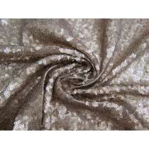 2-Way Stretch Sequin on Mesh- Smoky Quartz #2489