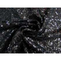2-Way Stretch Sequin on Mesh- Obsidian #2491