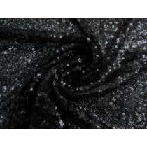 Sequins on Mesh- Onyx #2492