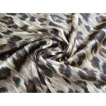 Camouflage Leopard Print Stretch Satin #2511