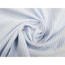 Textured Stripe Cotton Blend- Soft Blue #2550