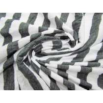 Crinkle Look Grey Stripe Jersey #2560