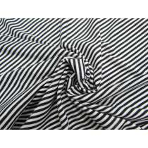 3mm Soft Stripe Jersey- Black / White #2569