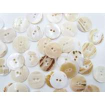 Shell Look Fashion Button- Cream FB160- 20mm