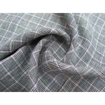 Glen Plaid Check Linen with Pink #2613