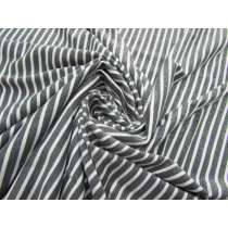 Glitter Finish Stripe Jersey- Grey #2660