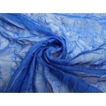 Crinkle Look Stretch Mesh- Capri Blue #2676