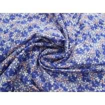 Amelia Floral Cotton Voile- Blue #2688