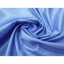 Self Satin Stripe Silk Cotton Voile- Stunning Blue #2695