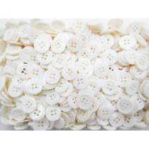 15mm Pearl White Fashion Buttons- 10 Button Bundle