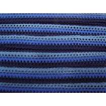 24mm Crochet Waves Trim- Sky Blues #216